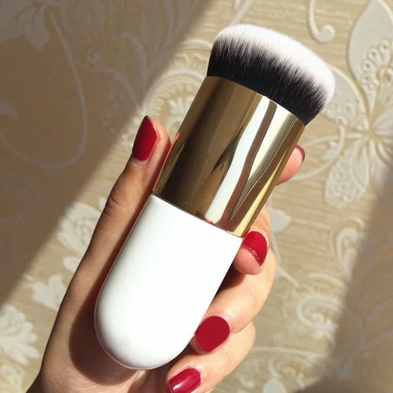 Chubby Pier Foundation Makeup Brush Cosmetics Blusher Flat Cream Wet And Dry Brushe Cosmetic Make Up tool