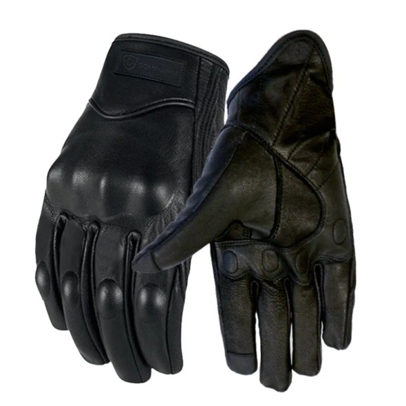 Leather Gloves for Men Pure Leather Gloves   Bike Gloves