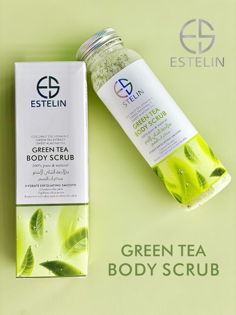 ESTELIN Green Tea Body Scrub By Dr.Rashel: Buy Online at Best Prices in  Pakistan | Daraz.pk
