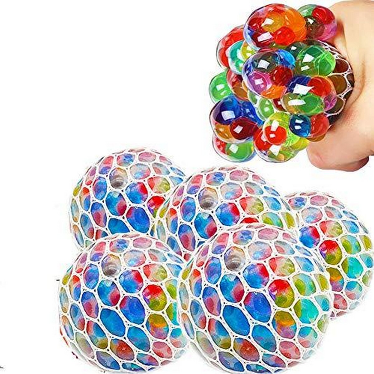 Magic Colour Changeable Grape Mesh Squish Ball Stress Release Playing Toy