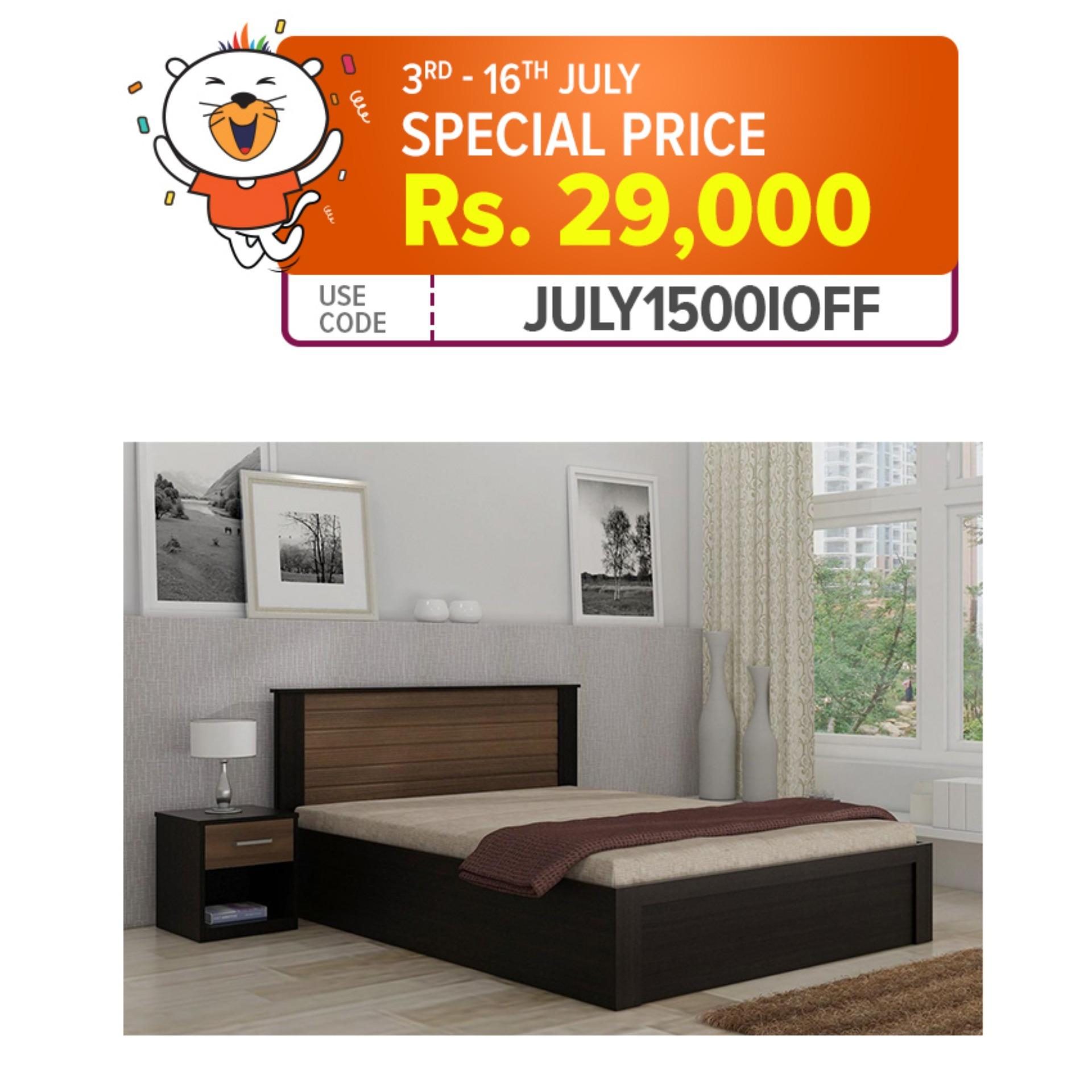 3f5c10d6f019 Double Tone Modern Design King / Queen / Single Bed with side tables