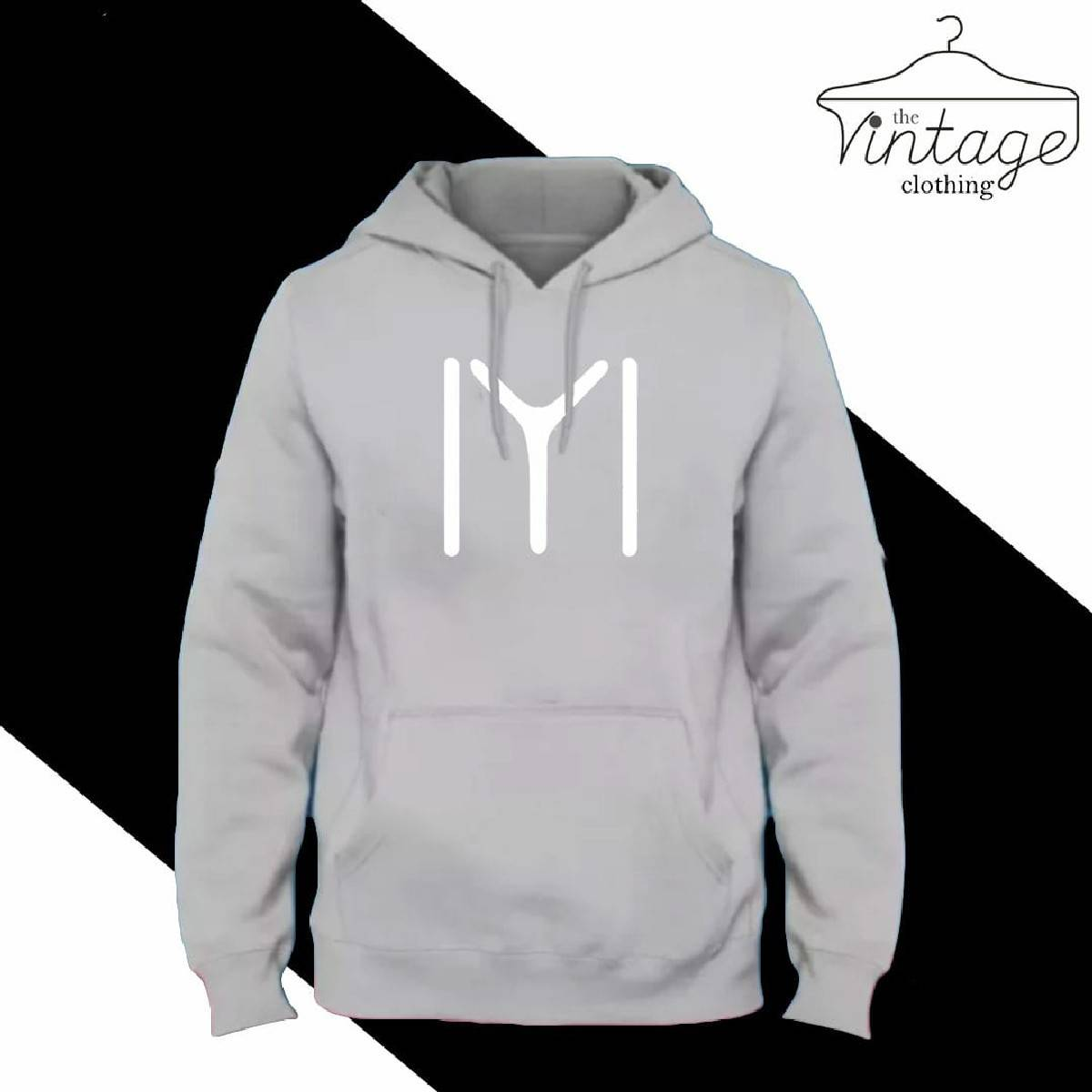 High quality imported casual ERTUGRUL printed Grey hoodie pullover