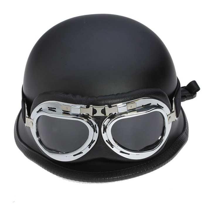 Universal Fashion Motorcycle Half Helmet Scooter Chopper Cruiser Biker Matte Flat Goggles Protection Gear Head Helmets