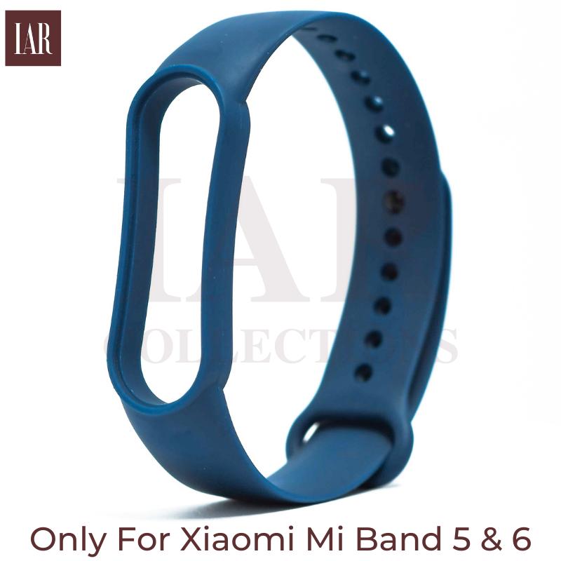 Mi Band 5, 6 Strap Belt Mi5, Mi6 - Navy Blue, Deep Blue, Midnight Blue By IAR Collections