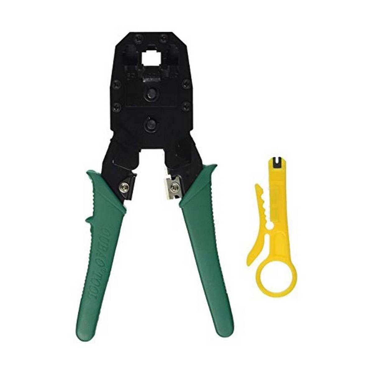 Pack of 2 - RJ45 - Networking Crimping Tool with RJ45 Connectors - 100 Pcs