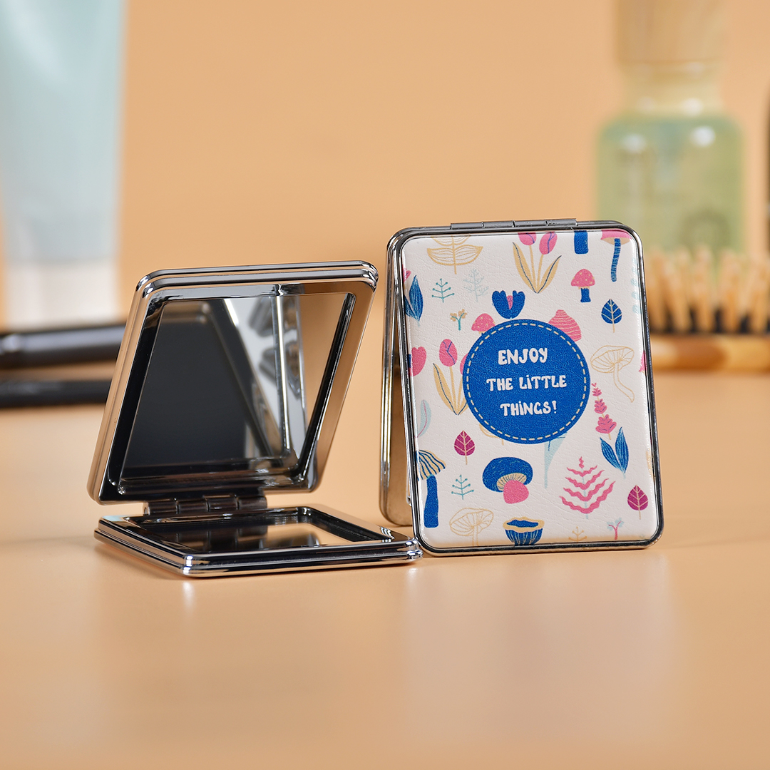 High Quality Folding Mirror Pocket Mirror Unbreakable 2 in 1 Plain Mirror & Magnifying Glass/ Portable Makeup Mirror