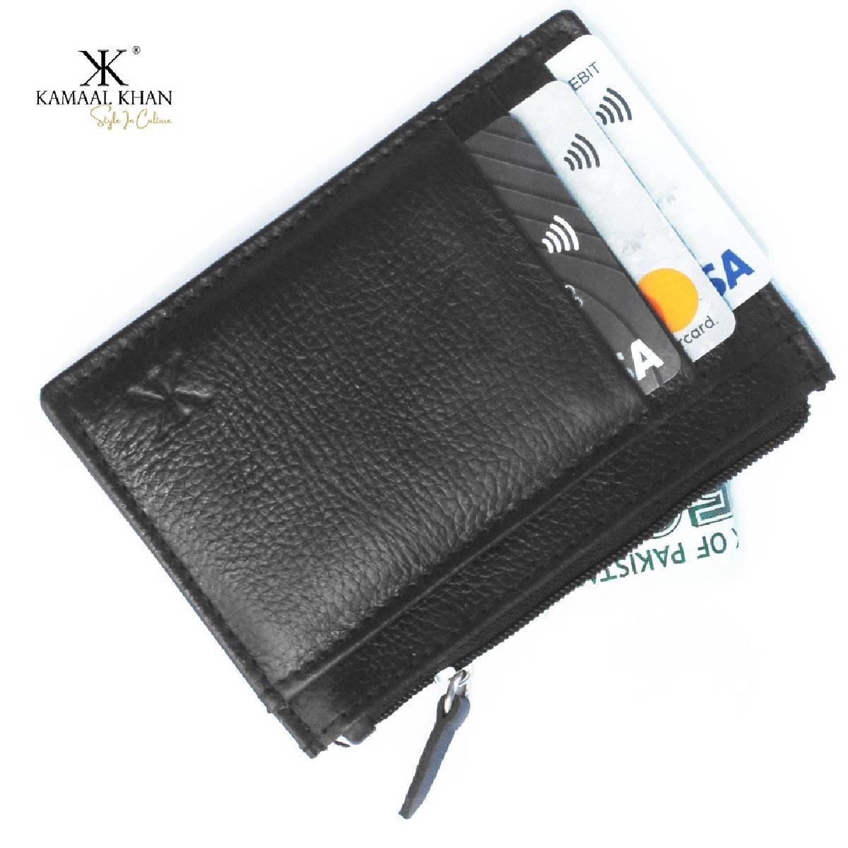 Genuine Mild Leather  Men's Zipper Purse Wallet For Men | No Fold Simple Wallet Clasp