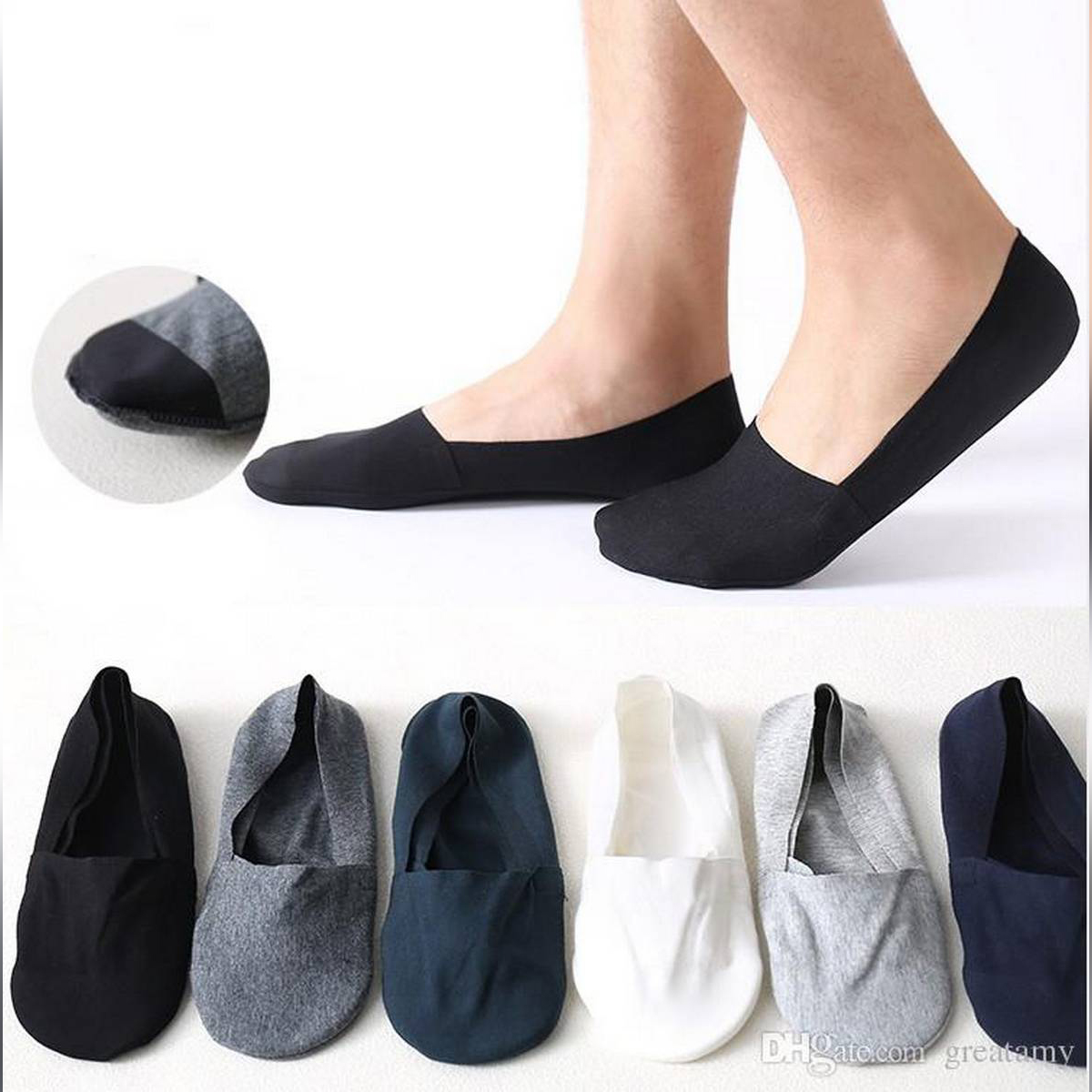 Pack of 3- Casual Soft Low Cut Socks Loafer Socks Invisible Socks for Men and Women