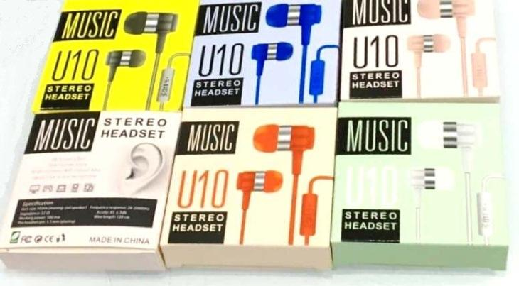 U10 Stereo Handsfree - Handsfree - Best Quality Music Sound Handfree - In Ear Phones