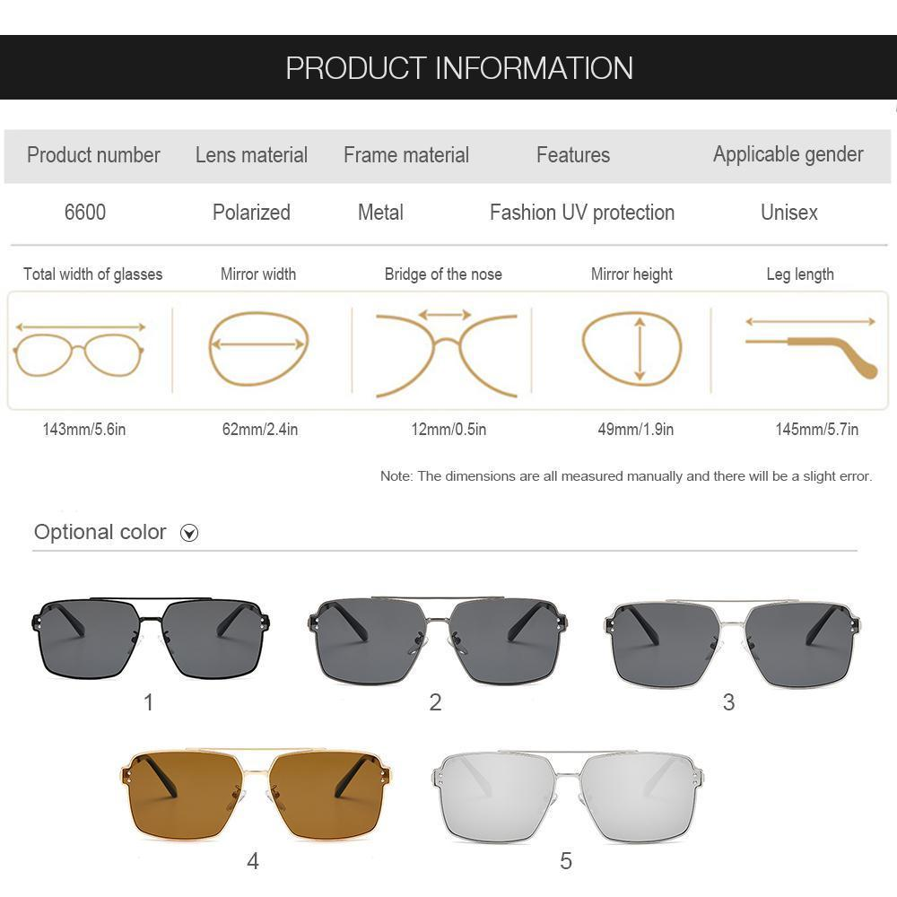 Goglor UV400 Retro Sunglasses Polarized LensEyewear Accessories Sun Glasses  For Men 5PCS