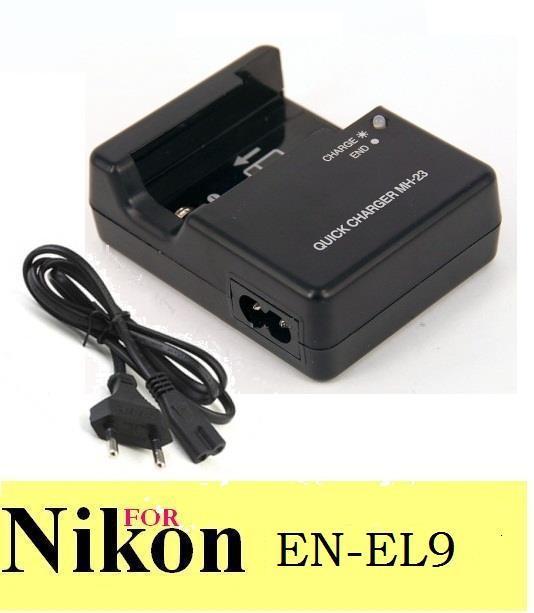 MH-23 MH23 Battery Charger Power Adapter for Nikon EN-EL9 D40X D40 D60  D3000 D5000 EN EL9 EN EL9A