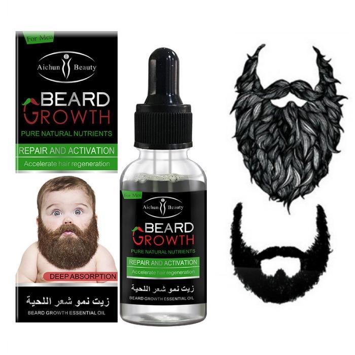 Men Mustaches Beard Essential Oil Beard Growth Fast beard growth 40ml