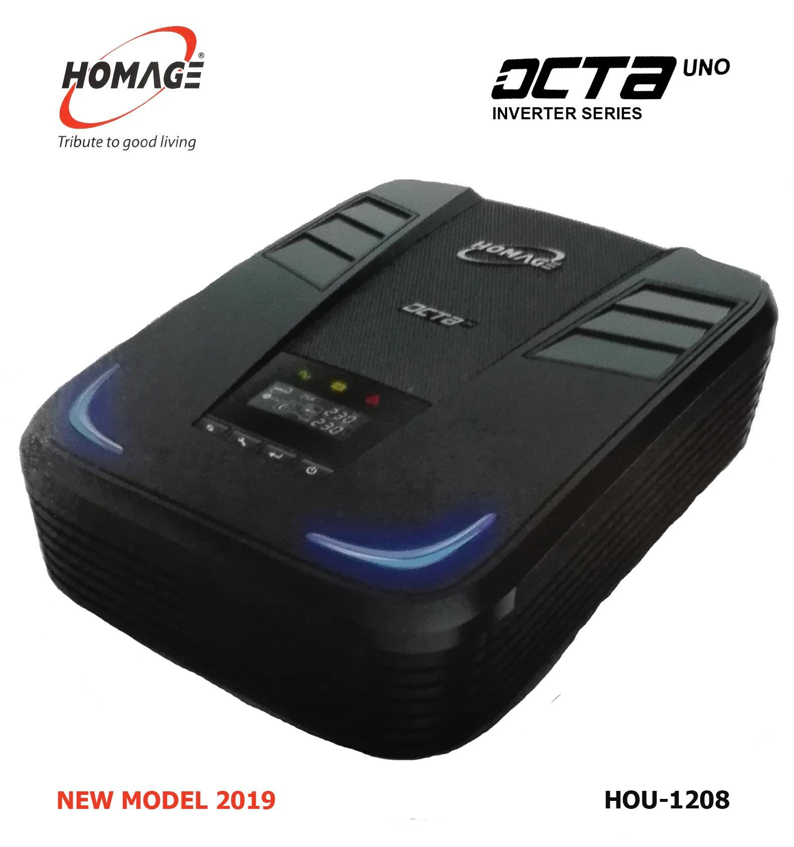 HOMAGE UPS Inverter OCTA UNO HOU 1208 - 1000W - 1200Va - 12V - 230VAC -  2019 NEW MODEL