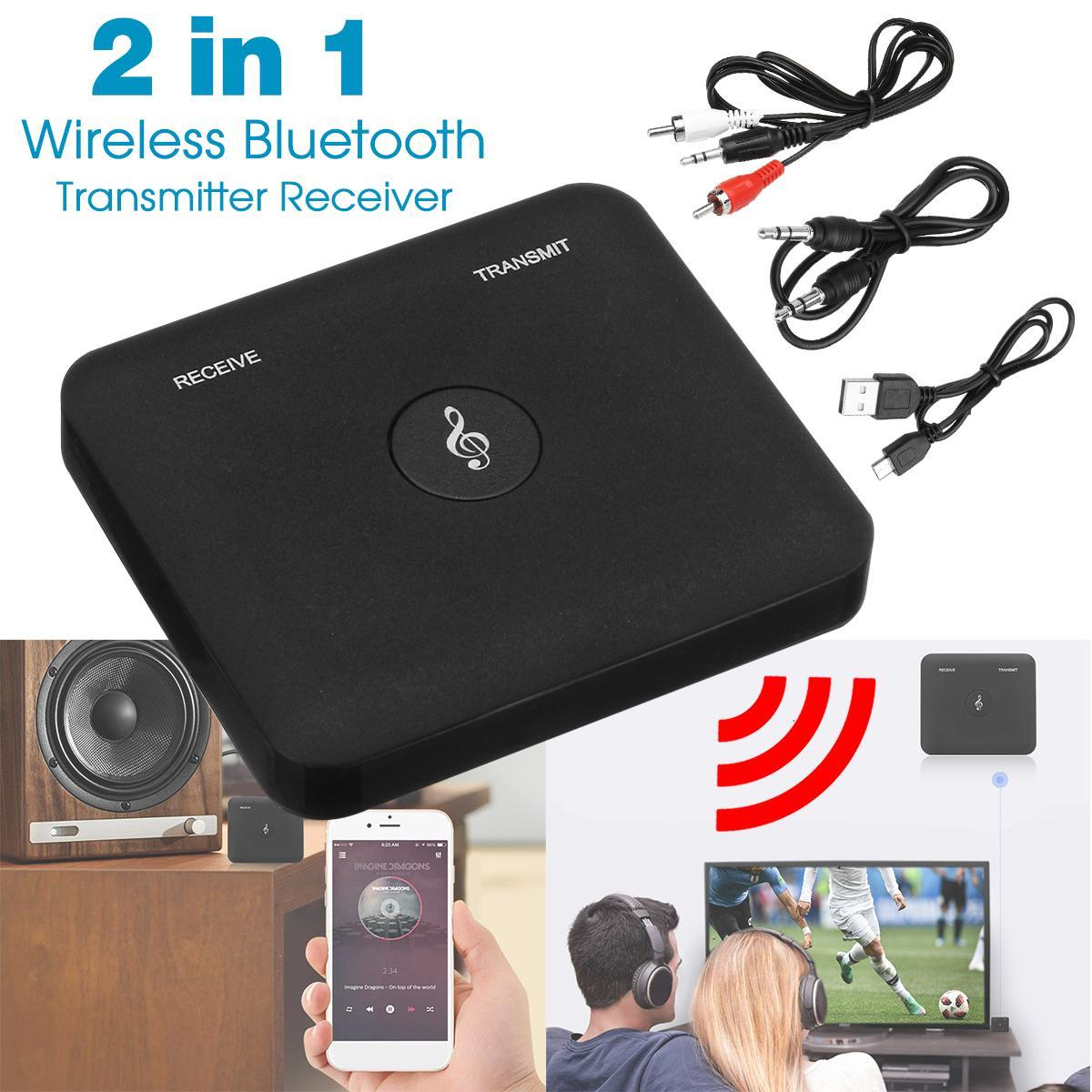 2 in 1 Wireless Bluetooth Transmitter Receiver A2DP Home TV Stereo 3 5mm  Port Wireless Audio Adapter For Phone PC