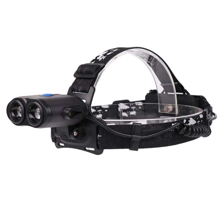 USB Rechargeable T6 LED Head Lamp Zoomable Outdoor Headlight (with Battery)
