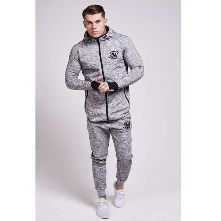 88bad8bfa7c42 ... Winter Jackets   Coats. Men s Grey Textured + Gloves Style Track Suit