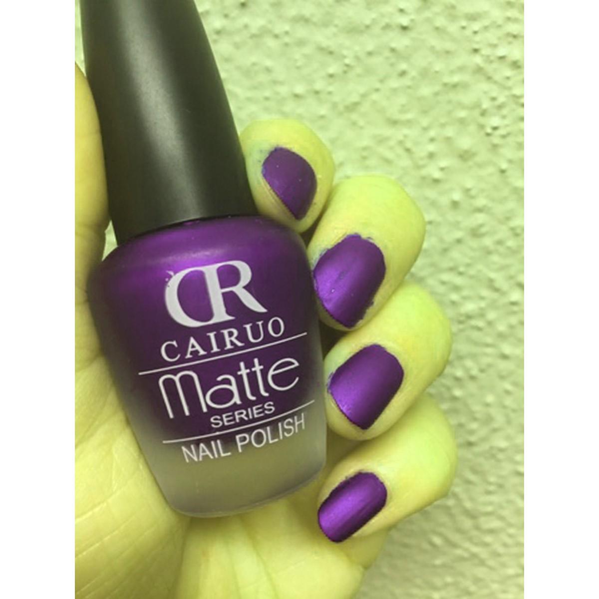 CR Cairuo Matte series high profile long lasting nail polish for women Pure Colour UV Gel Nail Art