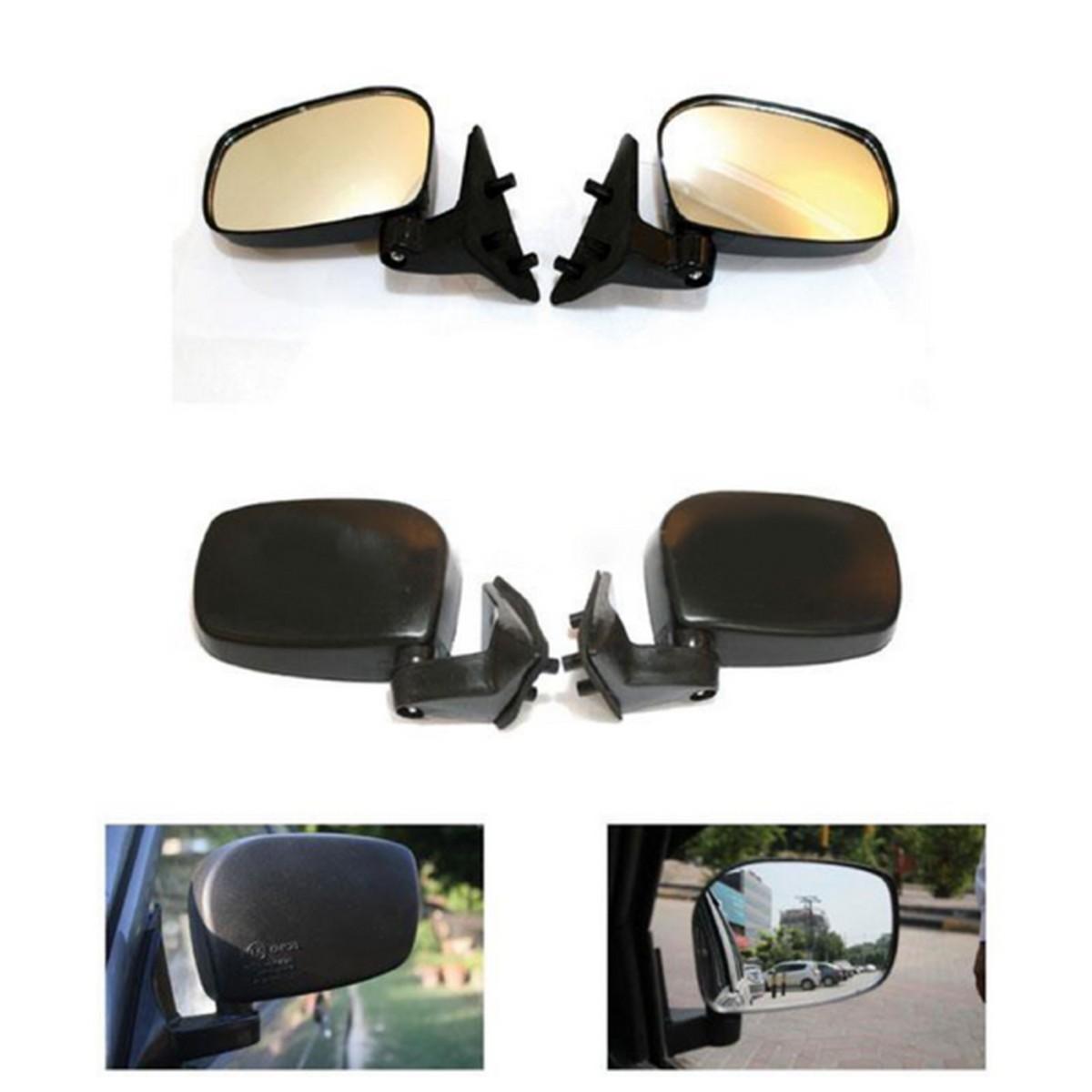 Suzuki Mehran + Khyber Side Mirrors - Pair | Wide Angle | Anti Glare Lens