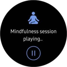 Mindfulness session is playing.