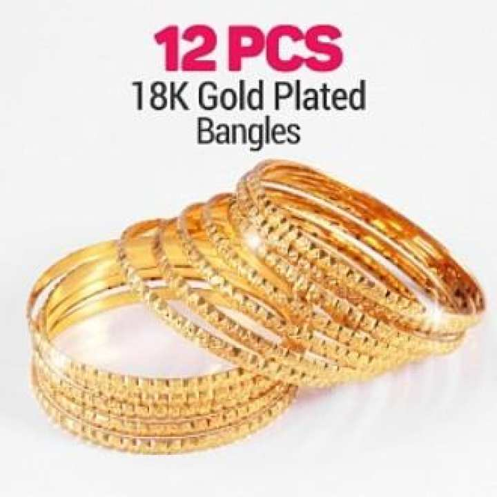 Set of 12 - 18K Gold Plated Bangles - Jewellery