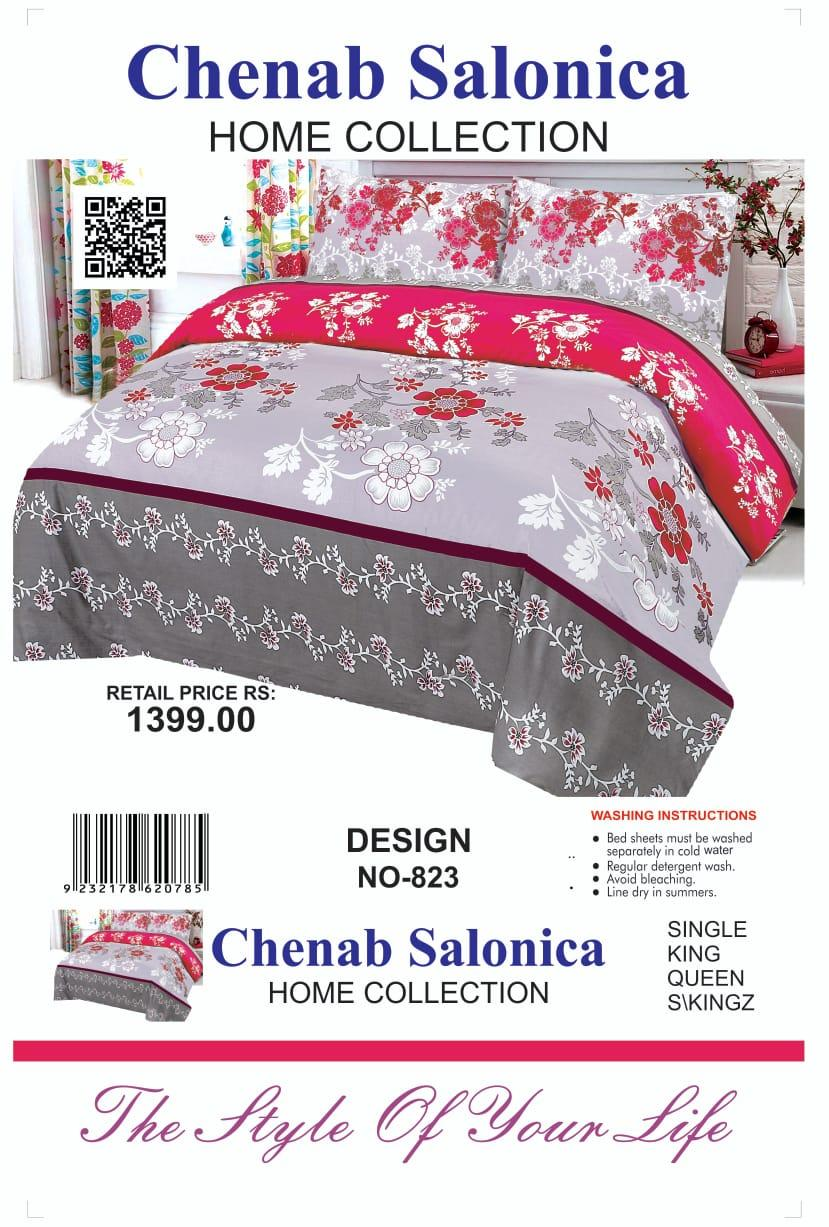 b3fceee45 Multicolor Cotton King Size Bed sheet With 2 Pillow Covers - 3pcs