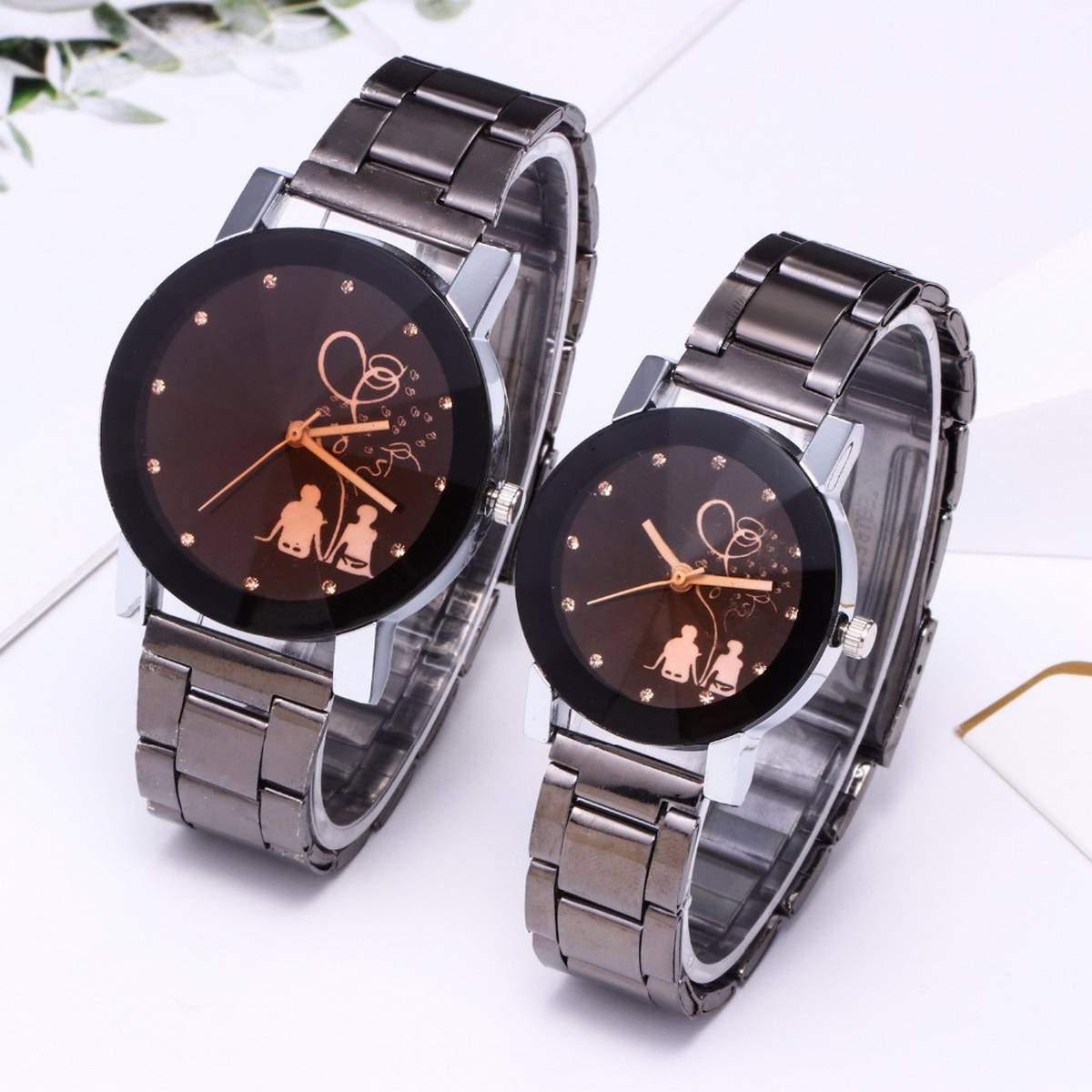 2Pcs/Set Couple Watches For Lovers With Box