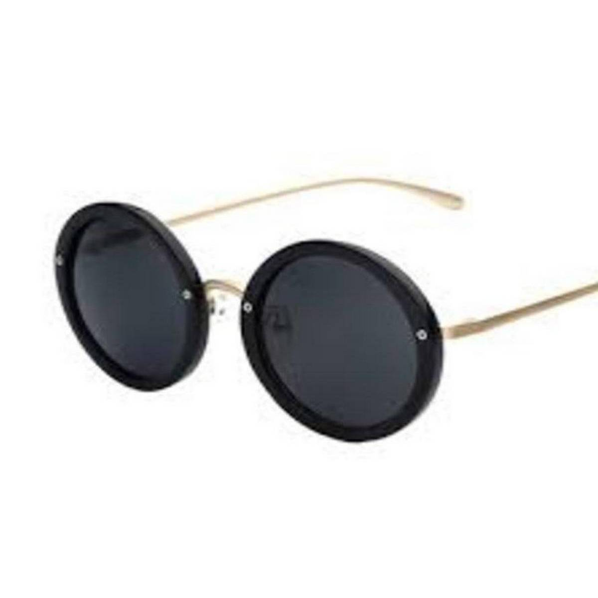 stylish Sunglasses for Men and Women, latest fashion Style sun glasses with 100% UV400 Protection glass Classic trendy metal Frame black Lens