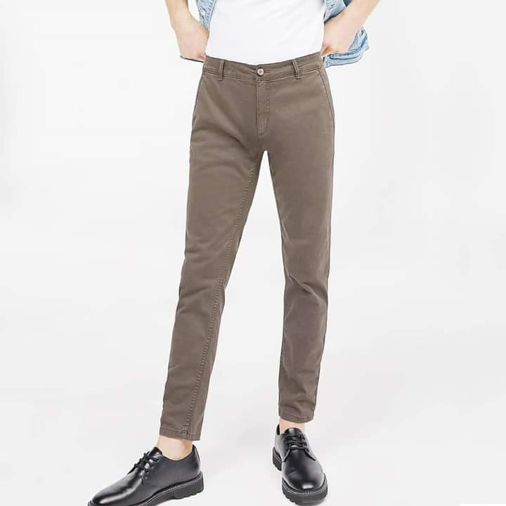 Business Class Cotton Jeans Pent In Beige Color With Perfect Stitching & Stretchable Super Soft Cotton For Men & Boys New Arrival