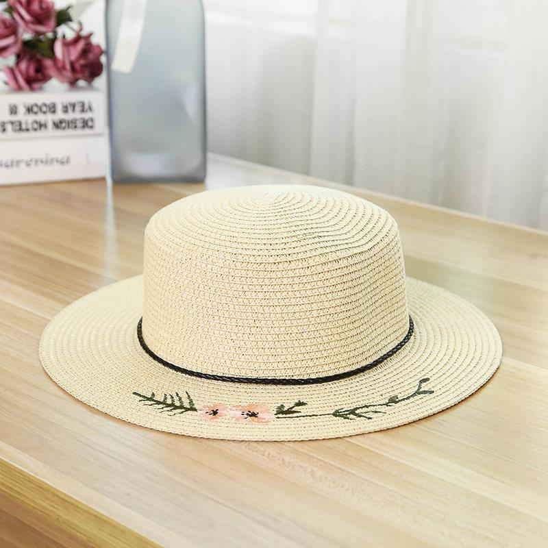 Hats For Women Ladies Hat Straw Hat Summer Korean Embroidery Flower Lady Straw Hat Outdoor Casual Big Eaves Shade Beach Hat Hats Baseball Cap Dad Hat Cap Beanie Bucket Hat Beret Beach Hat Summer Hat Straw Hat Baseball Sun Hats