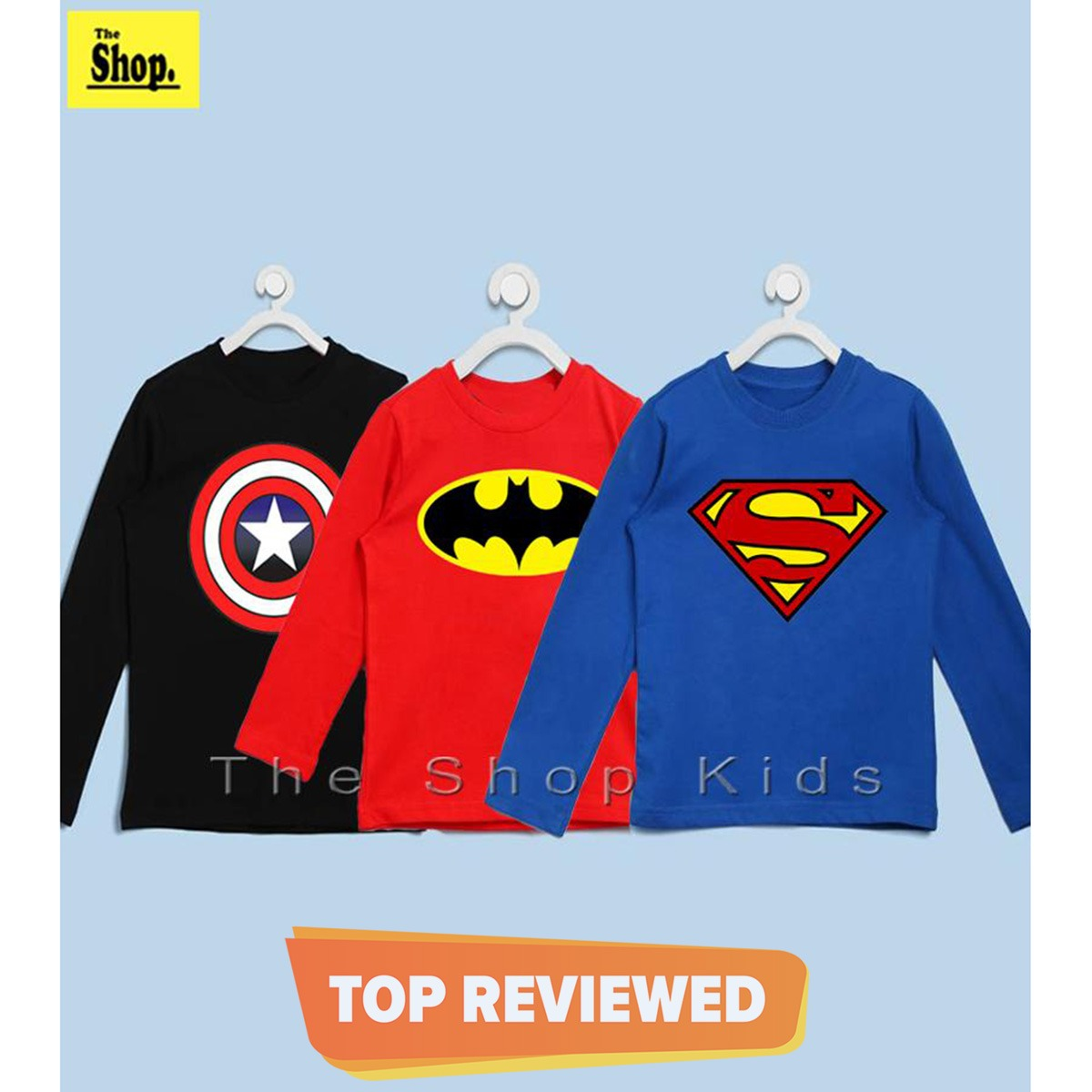 The Shop - Pack Of 3 - Super Hero Full Sleeves T-Shirts For Kids - FS-SH3