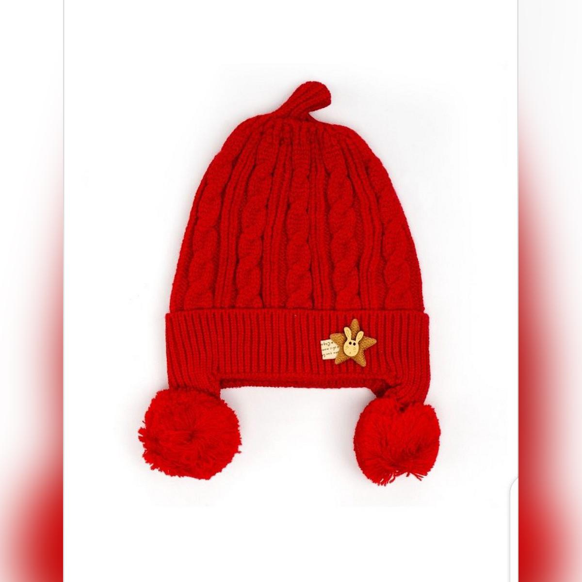 Imported New Styles Winter Newborn Baby BoysGirls Hat Cap Beanie Kids Children Winter Warm Knitted Knitting Wool Hemming Hairball Pom Ball Caps