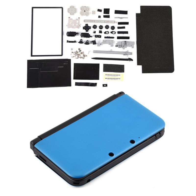 Full Housing Case Cover Shell Repair Parts Complete Replacement Kit for  Nintendo 3DS XL (Blue)