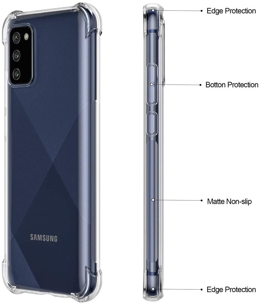 Samsung Galaxy A02s ShockProof Anti-Burst Scratch Proof Transparent TPU Mobile Back Case