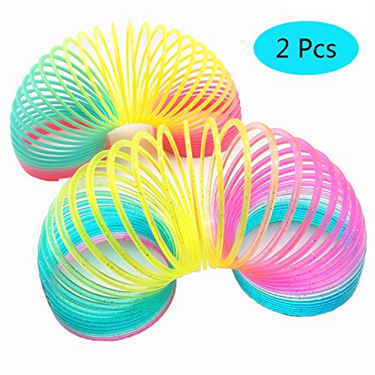 PACK OF 2 - Magic Slinky Rainbow Springs Bounce Fun Toy For Kids