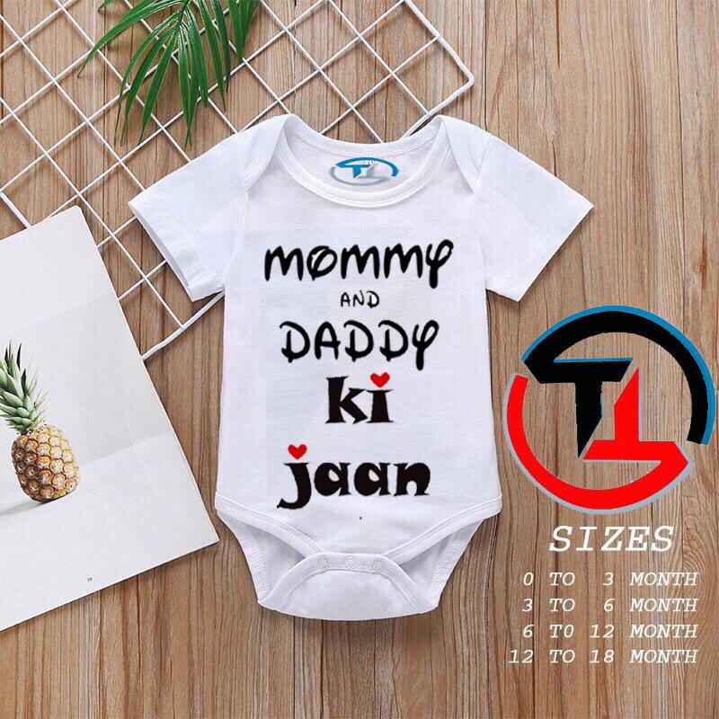 Baby Girls and Boys Half Sleeves Cotton Body suits Summer Wear, Romper Infants Onesies (M&D KJN)