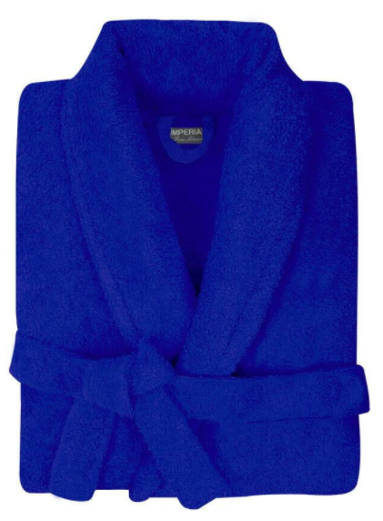Bathrobe Men & Women 100% Cotton Terry Toweling Collar Bathrobes Dressing Gown