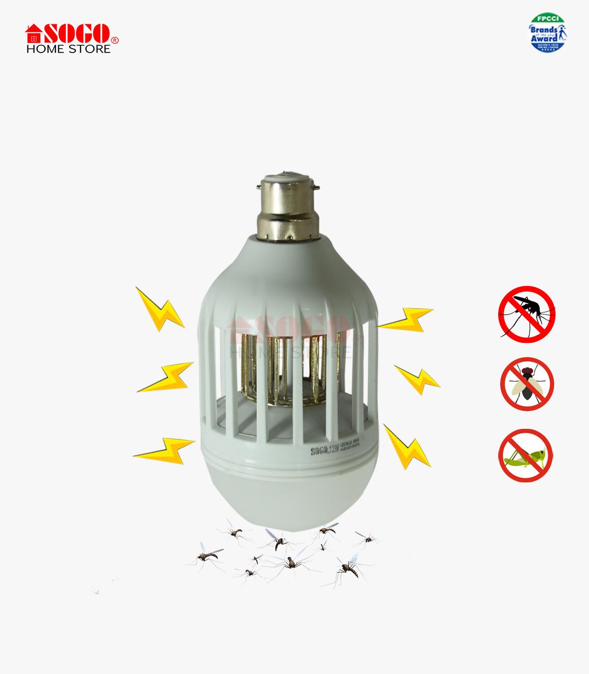 Sogo Led Bulb Mosquito Killer (12w) (b22) Pin Type