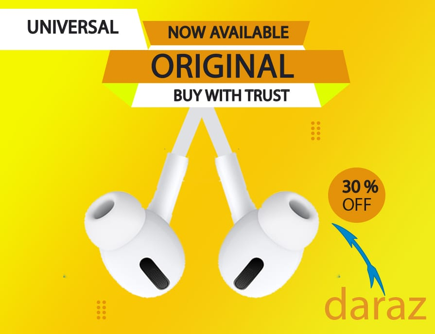 Universal Handsfree-Earphones With Mic Deep Base HD Sound for Gaming Music Movies