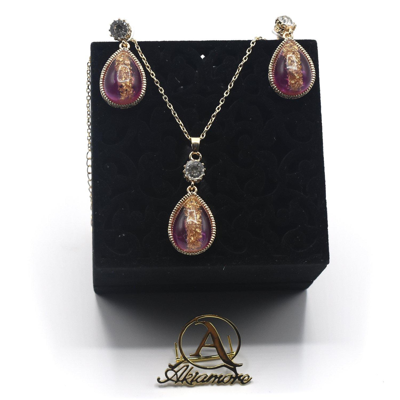 Kinel Elegant Algeria Wedding Jewelry Sets Women Earring Necklace Arab Gold Color Ethnic Bridal Jewelry Bijoux Crystal Gift jtfrpha7b-1