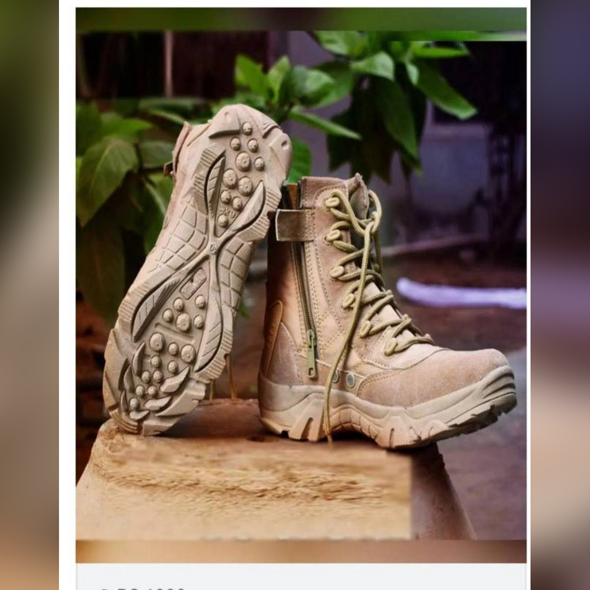 Army Full Camel Boot For Men