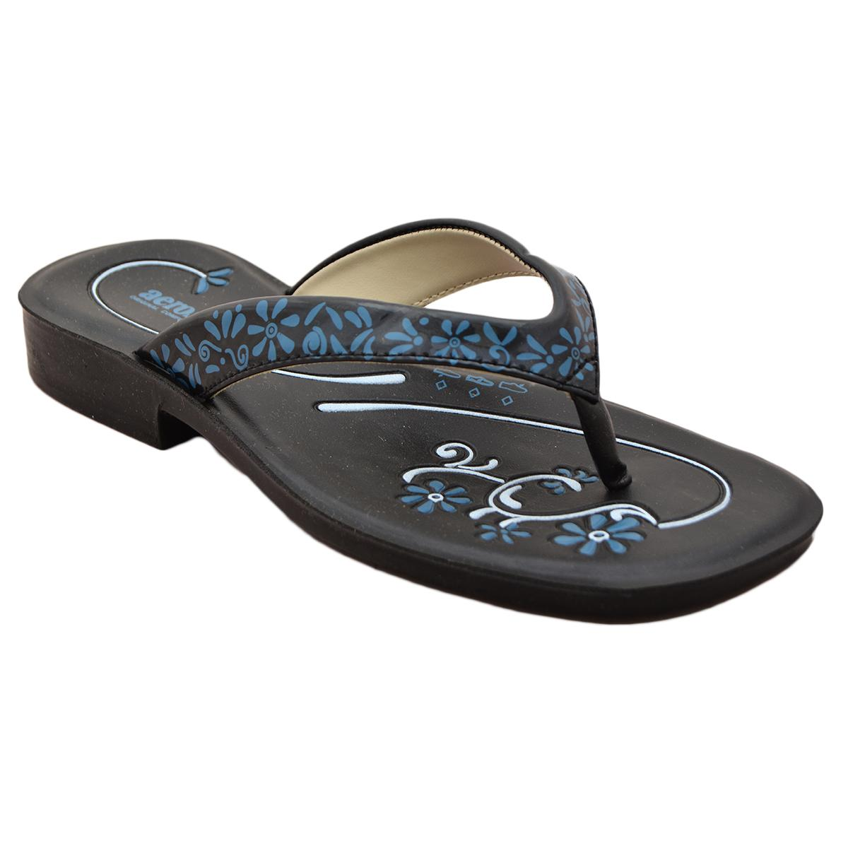 Aerosoft Synthetic Leather Slippers For Women A3008