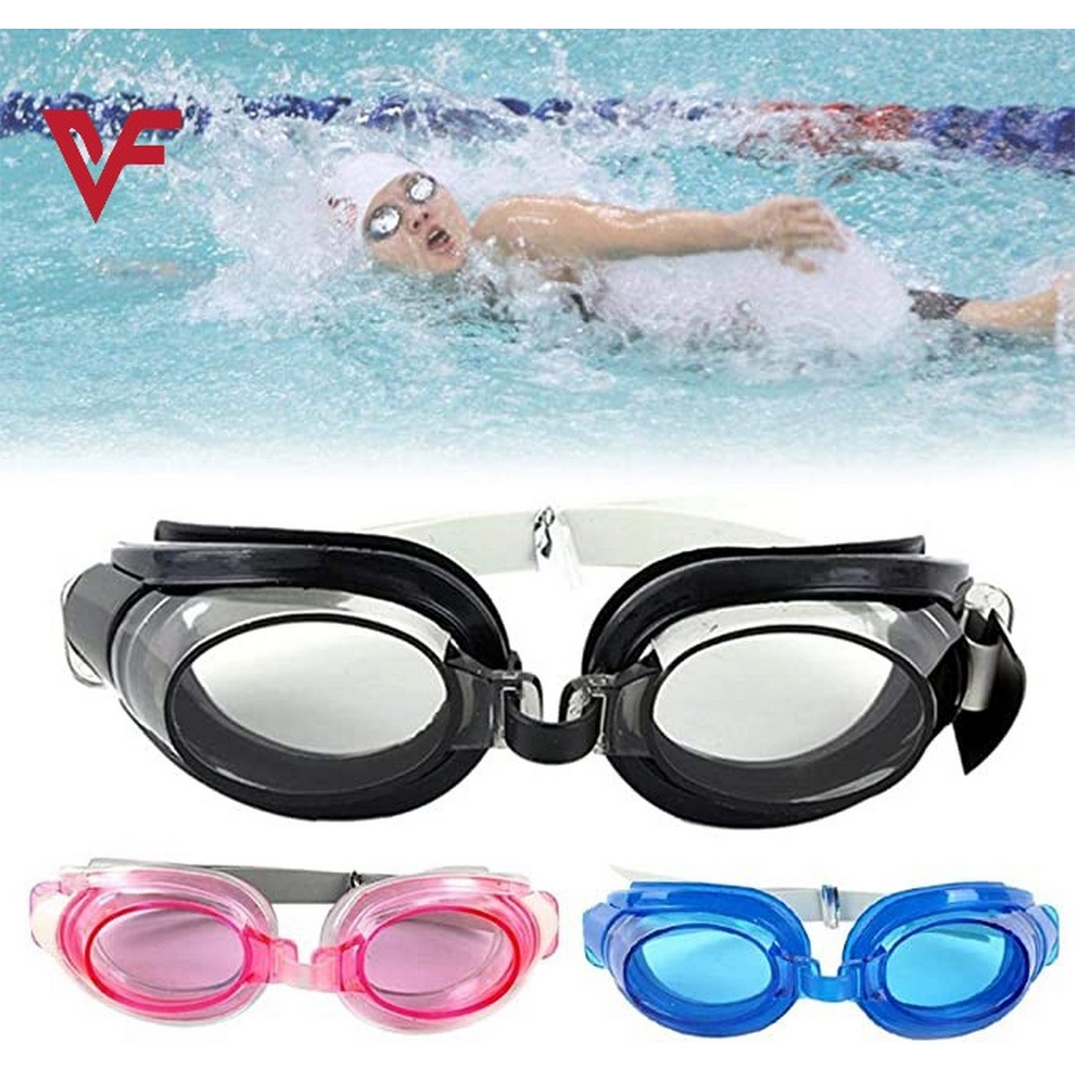 Professional 3 in 1 Swimming Goggles Anti-fog Swimming Water Pool Glasses Unisex Adjustable Swim Glasses Eyewear Waterproof Anti-fog Glasses Nose Clip Ear Plug Set No Leaking Anti Fog Uv Protection For Adult Men Women Youth Kids Child Swiming Accessories