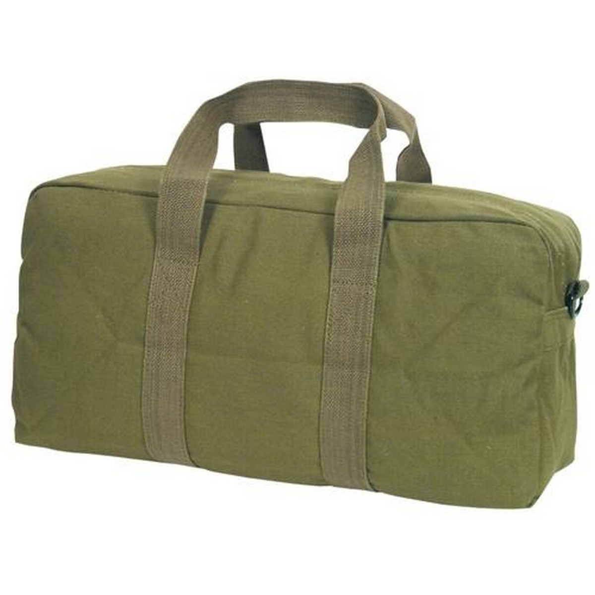 Tarpal Canvas Made Tool Bag 16 inch with side pocket zipper Green High Quality