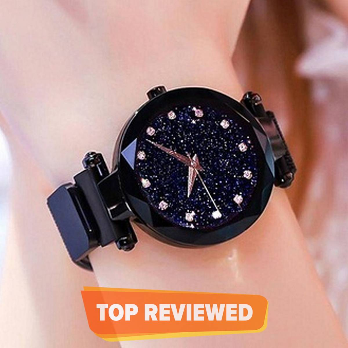 Magnet Chain Watch For Girls Black