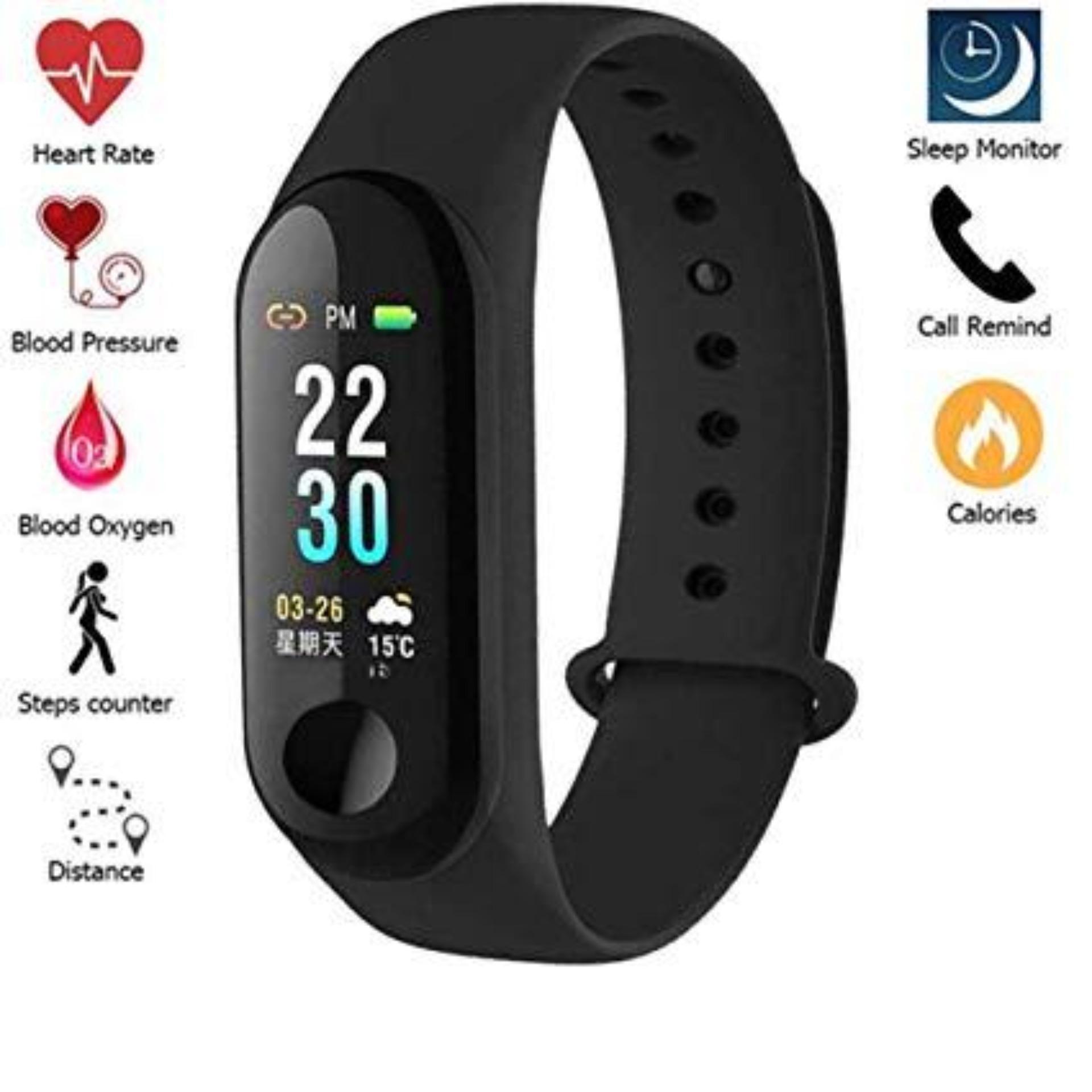 M3 Smart Fitness Band, Fitness Band, Wrist Watch, Smart Band, Smart Watch,  Fitness Watch, Watch-Black