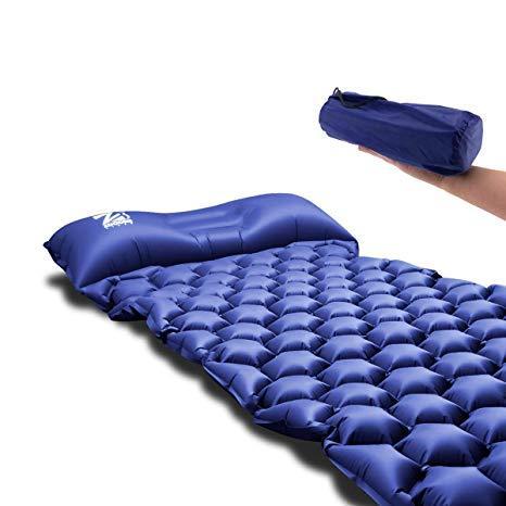 Swell Inflatable Sleeping Pad Ultralight Camping Mattress With Pillow Portablefolding Inflating Roll Compact Air Mat Waterproof Lightweight For Outdoor Machost Co Dining Chair Design Ideas Machostcouk