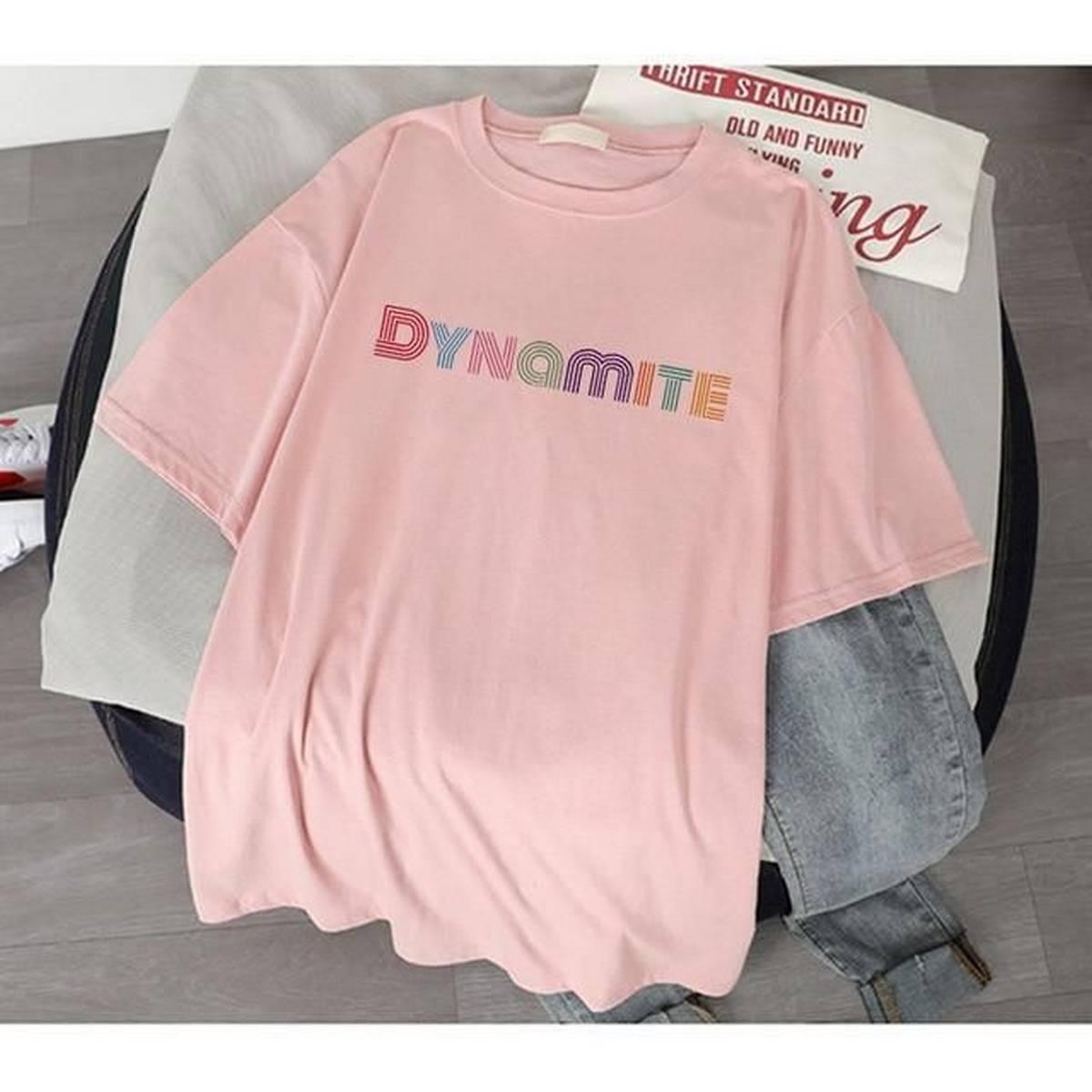 Bts Fan Merch Cotton Half Sleeves O Neck T Shirt For Women