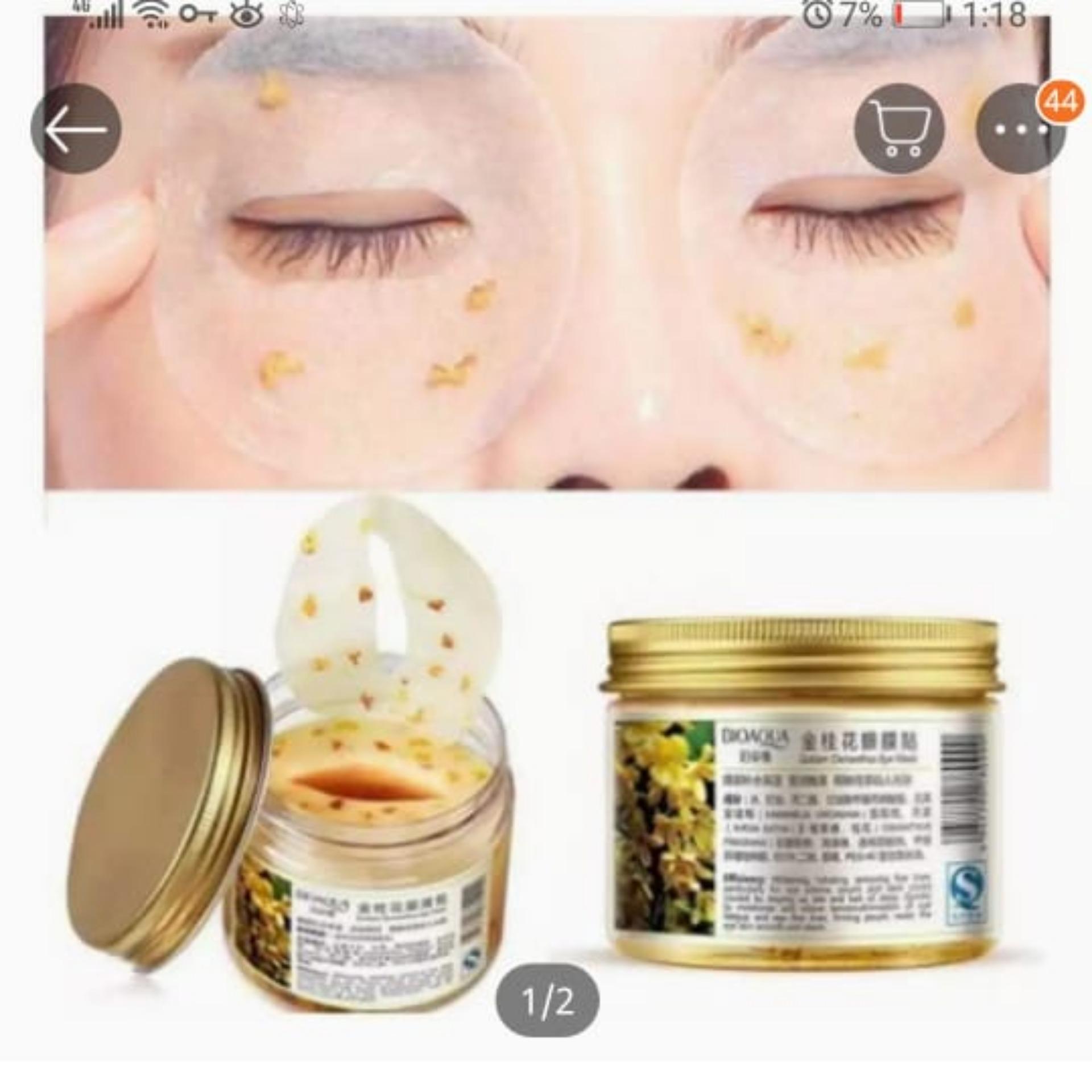 Eye Skin Care Golden Collagen Eye Mask Anti-Puffiness Dark Circle Moisturizing
