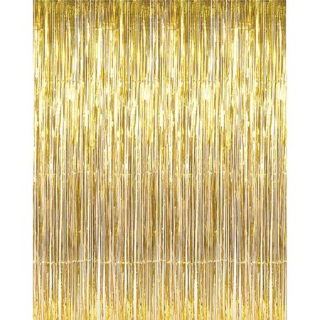 Back Drop Foil Curtains Size 3.5 Feet Width & 6 Feet Height, Best for Birthday, Wedding, Engagement, Bridal Shower , Baby Shower and Anniversary Parties Back Drop Decorations