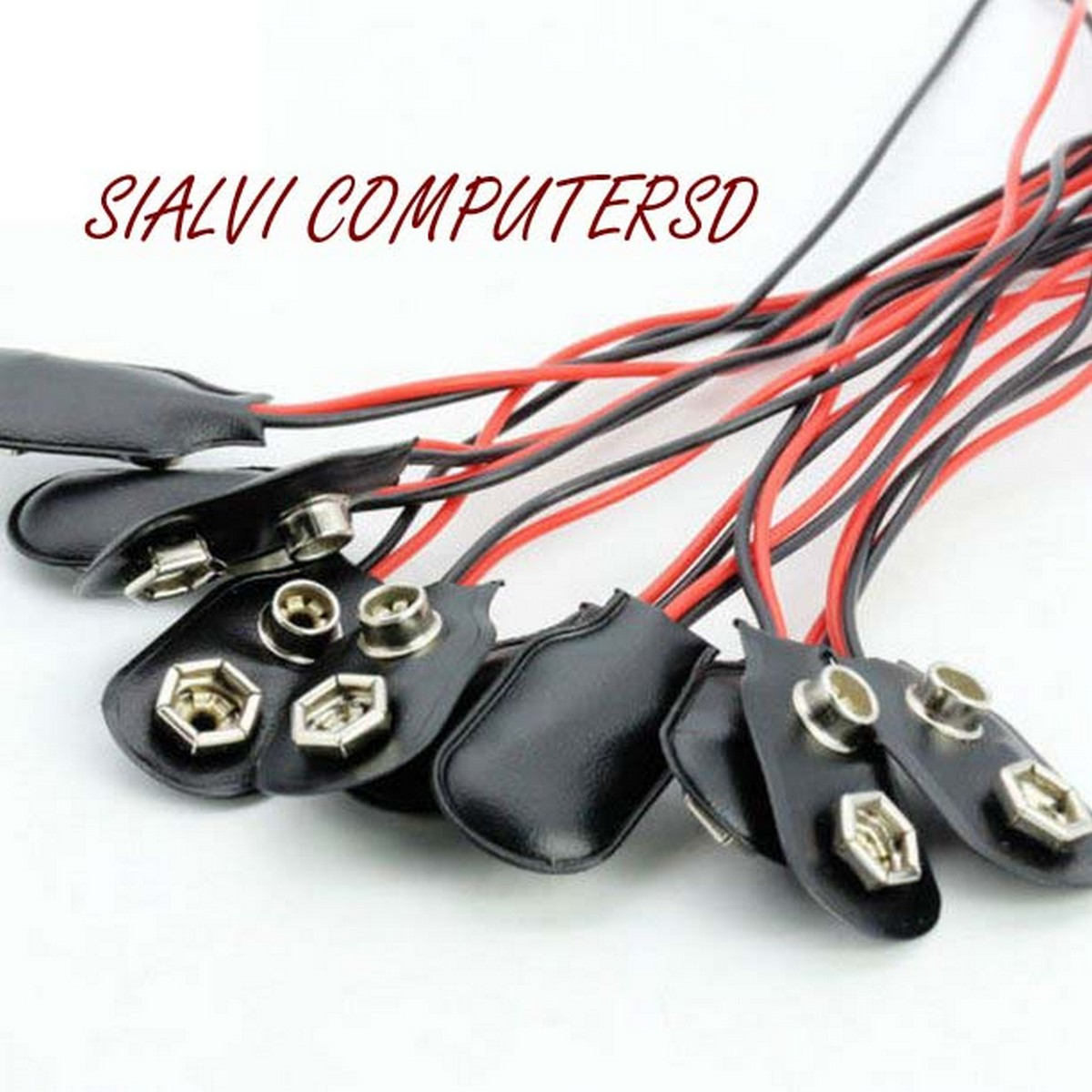 5 pcs 9V Battery Clip Snap-On Plug Holder Connector Cable With Wire Leads 9-Volt